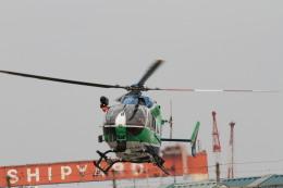 ひらひささんが、津市伊勢湾ヘリポートで撮影した兵庫県消防防災航空隊 BK117C-2の航空フォト(飛行機 写真・画像)