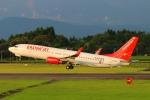 Kuuさんが、鹿児島空港で撮影したイースター航空 737-8KNの航空フォト(飛行機 写真・画像)