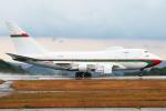 Mar Changさんが、広島空港で撮影したオマーン・ロイヤル・フライト 747SP-27の航空フォト(写真)