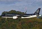 あしゅーさんが、福岡空港で撮影したスターフライヤー A320-214の航空フォト(写真)