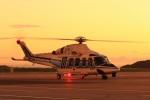ドリさんが、福島空港で撮影した海上保安庁 AW139の航空フォト(写真)