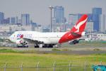 ちゃぽんさんが、羽田空港で撮影したカンタス航空 747-438/ERの航空フォト(写真)