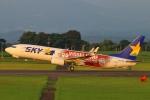 Kuuさんが、鹿児島空港で撮影したスカイマーク 737-8ALの航空フォト(飛行機 写真・画像)