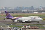 100分の1の飛旅人さんが、羽田空港で撮影したタイ国際航空 747-4D7の航空フォト(飛行機 写真・画像)