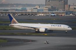 素足の女神さんが、羽田空港で撮影したユナイテッド航空 787-9の航空フォト(飛行機 写真・画像)