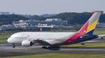 パンダさんが、成田国際空港で撮影したアシアナ航空 A380-841の航空フォト(飛行機 写真・画像)