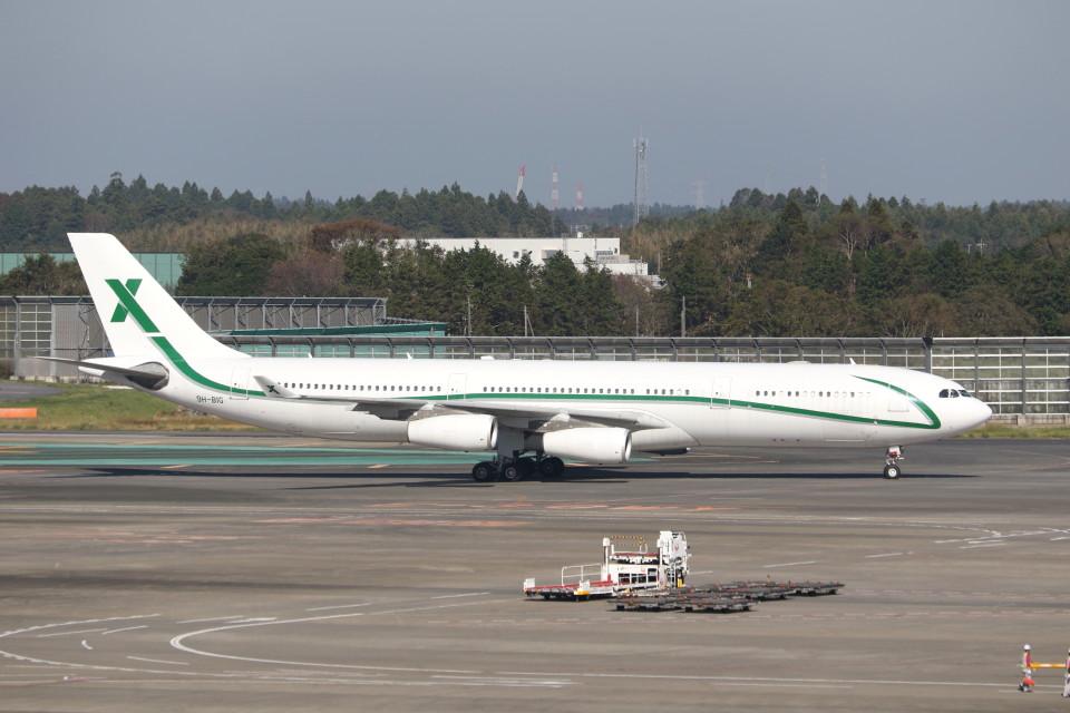 utarou on NRTさんのエアXチャーター Airbus A340-300 (9H-BIG) 航空フォト