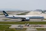 panchiさんが、関西国際空港で撮影したキャセイパシフィック航空 A350-1041の航空フォト(飛行機 写真・画像)