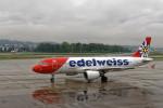 Airliners Freakさんが、チューリッヒ空港で撮影したエーデルワイス航空 A320-214の航空フォト(飛行機 写真・画像)