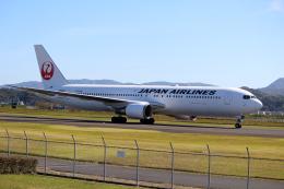 素足の女神さんが、出雲空港で撮影した日本航空 767-346/ERの航空フォト(飛行機 写真・画像)