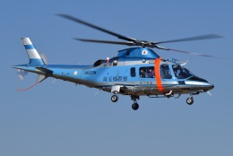 ブルーさんさんが、朝日航洋川越メンテナンスセンターで撮影した埼玉県警察 A109E Powerの航空フォト(飛行機 写真・画像)