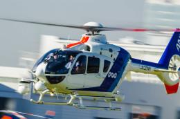 NCT310さんが、東京ヘリポートで撮影したオールニッポンヘリコプター EC135T2の航空フォト(飛行機 写真・画像)