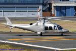 Chofu Spotter Ariaさんが、東京ヘリポートで撮影した日本個人所有 AW109SPの航空フォト(飛行機 写真・画像)