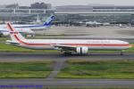 Chofu Spotter Ariaさんが、羽田空港で撮影したガルーダ・インドネシア航空 777-3U3/ERの航空フォト(写真)