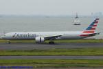 Chofu Spotter Ariaさんが、羽田空港で撮影したアメリカン航空 777-323/ERの航空フォト(飛行機 写真・画像)