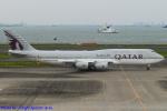 Chofu Spotter Ariaさんが、羽田空港で撮影したカタールアミリフライト 747-8KB BBJの航空フォト(飛行機 写真・画像)