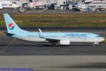 Chofu Spotter Ariaさんが、羽田空港で撮影した大韓航空 737-8BKの航空フォト(写真)