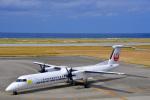 HISAHIさんが、久米島空港で撮影した琉球エアーコミューター DHC-8-402Q Dash 8 Combiの航空フォト(飛行機 写真・画像)