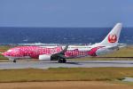 HISAHIさんが、久米島空港で撮影した日本トランスオーシャン航空 737-8Q3の航空フォト(飛行機 写真・画像)