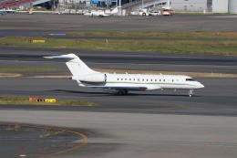 ハム太郎。さんが、羽田空港で撮影したスイス企業所有 BD-700 Global Express/5000/6000の航空フォト(飛行機 写真・画像)