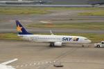 keitsamさんが、羽田空港で撮影したスカイマーク 737-8HXの航空フォト(飛行機 写真・画像)