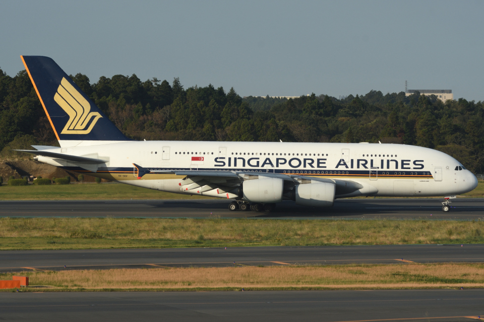 sepia2016さんのシンガポール航空 Airbus A380 (9V-SKP) 航空フォト