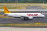 PASSENGERさんが、デュッセルドルフ国際空港で撮影したペガサス・エアラインズ A320-216の航空フォト(写真)