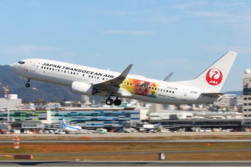 青春の1ページさんの日本トランスオーシャン航空 Boeing 737-800 (JA11RK) 航空フォト