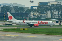 ぱん_くまさんが、シンガポール・チャンギ国際空港で撮影したライオン・エア 737-8GPの航空フォト(飛行機 写真・画像)