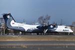 森の美玲Pさんが、新千歳空港で撮影したオーロラ DHC-8-311Q Dash 8の航空フォト(写真)