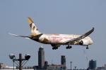 アオアシシギさんが、成田国際空港で撮影したエティハド航空 787-9の航空フォト(写真)