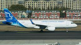 coolinsjpさんが、大連周水子国際空港で撮影した華夏航空 A320-214の航空フォト(飛行機 写真・画像)