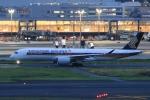 Hiro-hiroさんが、羽田空港で撮影したシンガポール航空 A350-941XWBの航空フォト(飛行機 写真・画像)
