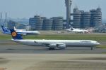 あおいそらさんが、羽田空港で撮影したルフトハンザドイツ航空 A340-642の航空フォト(写真)