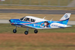 スカルショットさんが、名古屋飛行場で撮影した日本フライングサービス PA-28-140 Cherokeeの航空フォト(写真)