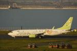 どんちんさんが、羽田空港で撮影したソラシド エア 737-81Dの航空フォト(写真)