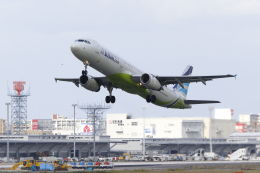 mocohide☆さんが、福岡空港で撮影したエアプサン A321-231の航空フォト(飛行機 写真・画像)