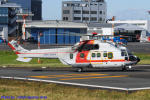 Chofu Spotter Ariaさんが、東京ヘリポートで撮影した朝日航洋 AS332L Super Pumaの航空フォト(飛行機 写真・画像)