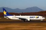 セブンさんが、新千歳空港で撮影したスカイマーク 737-8FZの航空フォト(飛行機 写真・画像)