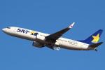 セブンさんが、新千歳空港で撮影したスカイマーク 737-81Dの航空フォト(飛行機 写真・画像)