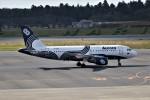 もぐ3さんが、成田国際空港で撮影したオーロラ A319-111の航空フォト(写真)