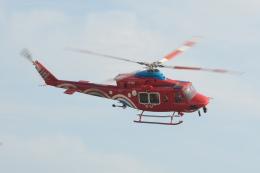 みいさんさんが、岡南飛行場で撮影した岡山県消防防災航空隊 412EPの航空フォト(飛行機 写真・画像)