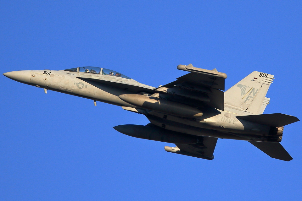 take_2014さんのアメリカ海軍 Boeing F/A-18 (NF501) 航空フォト