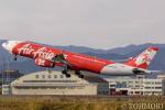 遠森一郎さんが、福岡空港で撮影したタイ・エアアジア・エックス A330-343Eの航空フォト(写真)