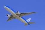 ☆ライダーさんが、成田国際空港で撮影したKLMオランダ航空 777-206/ERの航空フォト(写真)