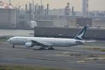 どんちんさんが、羽田空港で撮影したキャセイパシフィック航空 777-367の航空フォト(写真)