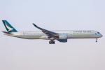mameshibaさんが、成田国際空港で撮影したキャセイパシフィック航空 A350-1041の航空フォト(写真)