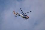 レドームさんが、羽田空港で撮影した毎日新聞社 EC135T1の航空フォト(写真)