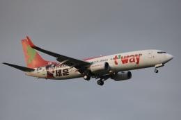 OS52さんが、成田国際空港で撮影したティーウェイ航空 737-8KGの航空フォト(飛行機 写真・画像)