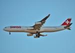 鉄バスさんが、成田国際空港で撮影したスイスインターナショナルエアラインズ A340-313Xの航空フォト(写真)